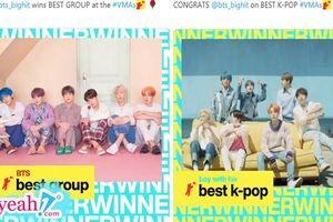 BTS được xướng tên ở 2 hạng mục giải thưởng tại MTV VMA 2019 dù vẫn đang trong kì nghỉ