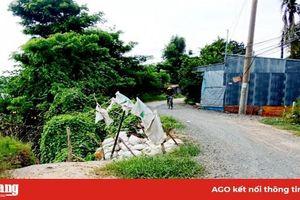 Khẩn cấp ứng phó sạt lở đê bao xã Vĩnh Trường