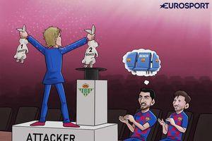 Biếm họa 24h: Griezmann khiến Suarez và Messi... vỗ mỏi tay