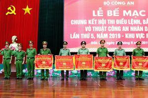 Gần 600 chiến sĩ tranh tài tại Hội thi điều lệnh, võ thuật, bắn súng Công an nhân dân
