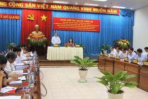 Đoàn kiểm tra của Bộ Chính trị làm việc với Ban Thường vụ Tỉnh ủy An Giang