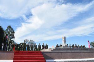 Trang nghiêm lễ chào cột mốc chủ quyền tại cửa khẩu Tịnh Biên