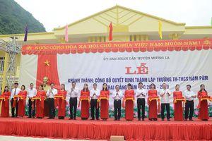Khánh thành cụm trường học tại xã Nặm Păm (Sơn La) do EVN tài trợ