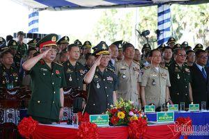 Việt Nam - Campuchia tuần tra chung biên giới và diễn tập chống tội phạm ma túy