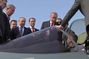 Tổng thống Erdogan đích thân đi xem Su-57, tiêm kích Nga 'sắp về tay' Thổ Nhĩ Kỳ