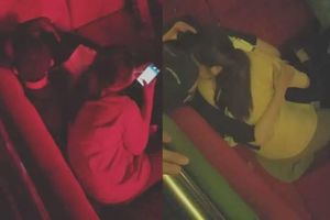 Xôn xao clip nam sinh ôm hôn 2 nữ sinh trong quán bar