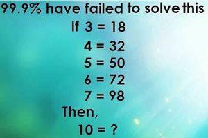 Thử thách với câu đố 99,9% người trả lời sai