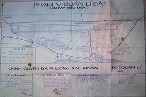 Hà Nội bất ngờ công bố bản đồ sân bay Miếu Môn ở Đồng Tâm
