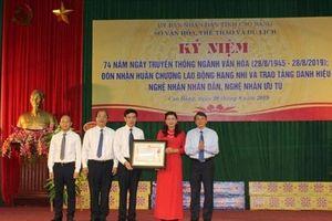 Sở Văn hóa, Thể thao và Du lịch Cao Bằng đón nhận Huân chương Lao động hạng Nhì