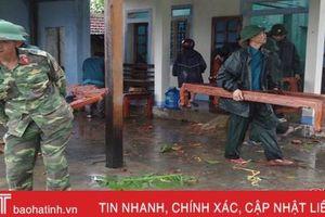 LLVT Hà Tĩnh huy động gần 150 CBCS giúp dân khắc phục hậu quả lốc xoáy