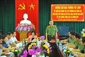 Bộ trưởng Tô Lâm: Nâng cao hiệu quả hoạt động của công an xã chính quy tại cơ sở