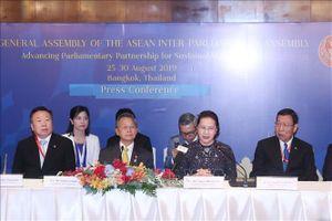 Chủ tịch Quốc hội Nguyễn Thị Kim Ngân đồng chủ trì họp báo AIPA 40