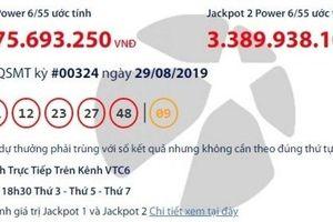 Kết quả xổ số Vietlott 29/8/2019: 55 tỷ đồng vào túi ai?