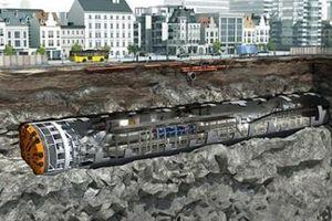 Chuẩn bị thi công khoan ngầm metro Dự án Tuyến đường sắt đô thị số 3 đoạn Nhổn - Ga Hà Nội
