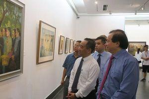 50 tác phẩm mỹ thuật của họa sĩ nhiều thế hệ cùng hội ngộ trong triển lãm đặc biệt 'Nhớ về Bác'