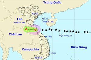 Bão suy yếu thành áp thấp nhiệt đới, Nghệ An đến Thừa Thiên-Huế mưa lớn