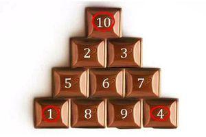 Làm sao chỉ di chuyển 3 viên kẹo nhưng xoay ngược được kim tự tháp?
