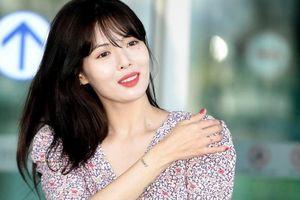 'Nữ hoàng gợi cảm' HyunA mặc kín ra sân bay