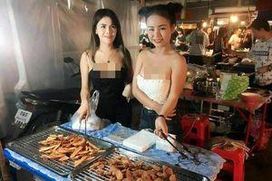 Hot girl Thái bán chuối chiên ăn mặc 'mát mẻ' giữa chợ ai cũng ngoái nhìn