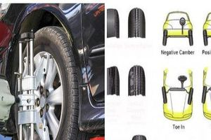 Chủ quan không chỉnh độ chụm bánh xe ô tô, tính mạng tài xế bị đe dọa