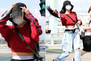 Hwasa (Mamamoo) hứng gạch đá vì diện thời trang khoe nội y ra sân bay
