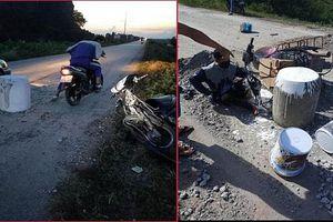 Tự ý 'dựng' trụ bê tông trên đường, người dân có vi phạm pháp luật?