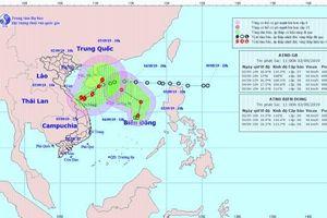 Hình thành cùng lúc 2 cơn bão và áp thấp nhiệt đới trên biển Đông