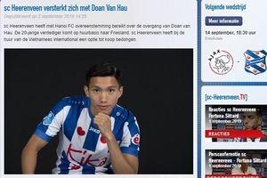 'CLB Heerenveen bị Văn Hậu thuyết phục bởi phẩm chất chuyên môn'