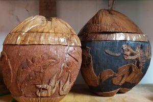 Vỏ dừa khô: Tưởng đồ bỏ đi mà nhiều người lại kiếm được tiền triệu