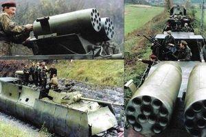 Kinh ngạc dàn hỏa lực cực mạnh trên đoàn tàu bọc thép của Quân đội Nam Tư