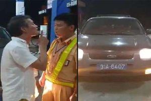 Tài xế xe biển xanh tát CSGT ở Thanh Hóa bị phạt 2,5 triệu đồng