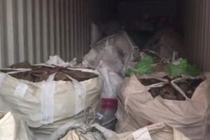 Chặn vụ xuất khẩu trái phép hàng chục tấn phế liệu