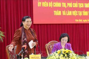 Phó Chủ tịch Quốc hội Tòng Thị Phóng thăm, làm việc tại Yên Bái
