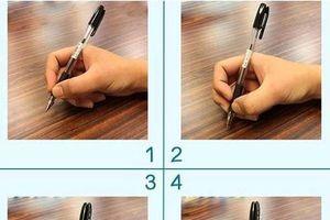 Trắc nghiệm: Lời khuyên giúp bạn thành công qua tư thế cầm bút