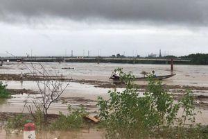 Mưa lớn, lũ trên các sông ở Quảng Trị lên nhanh