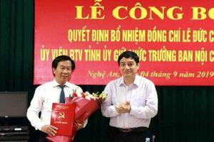 Nghệ An: Trao quyết định bổ nhiệm một số chức danh chủ chốt