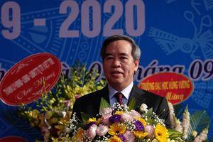 Trưởng ban kinh tế Trung ương Nguyễn Văn Bình dự Lễ khai giảng tại trường Hùng Vương