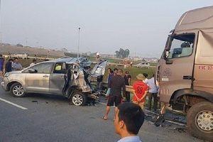 Diễn biến mới vụ container đâm Innova lùi trên cao tốc Thái Nguyên