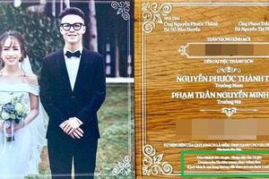 Thiệp cưới cực chất và loạt quy định khắt khe trong đám cưới con gái Minh Nhựa