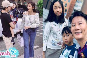 Loạt sao Việt đưa con đến trường trong ngày khai giảng