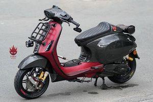 Vespa Sprint độ full carbon, phong cách xe đua tại Sài Gòn