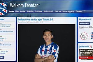 SC Heerenveen lại ưu ái Văn Hậu sau cuộc đối đầu với Thái Lan