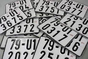 Biển số xe bị hư, mang ra tiệm làm mới được không?