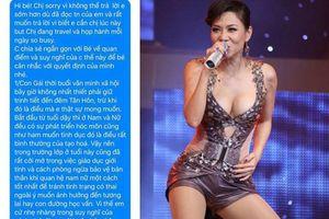 Fan nữ hỏi 'Tình yêu không tình dục có phải tình đồng chí?', Thu Minh trả lời gây sốt