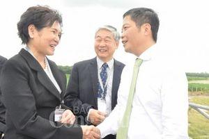 Bộ trưởng Trần Tuấn Anh dự Lễ khánh thành Cụm Nhà máy điện mặt trời Dầu Tiếng