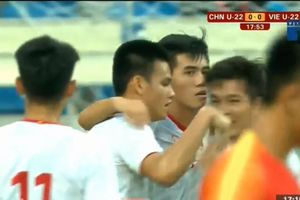 Tiến Linh lập cú đúp, U-22 Việt Nam thắng dễ U-22 Trung Quốc