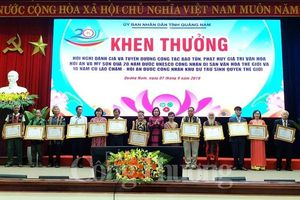 Quảng Nam: Vinh danh các cá nhân, tập thể ưu tú trong công tác bảo tồn và phát huy di sản