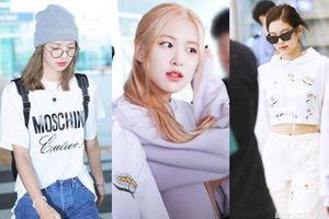 BLACKPINK gây náo loạn sân bay: Jennie 'ngầu' như tổng tài, Lisa và Rosé đơn giản nhưng xinh như búp bê sống