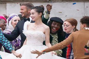 Lộ ảnh Angelababy gầy trơ xương trong 'đám cưới' với David Beckham