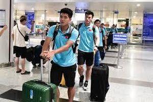 Đội tuyển U22 Việt Nam về nước sau trận thắng ấn tượng U22 Trung Quốc